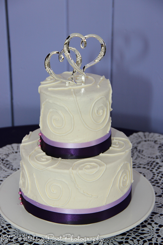 Raspberry Swirl Wedding Birthday Cake
