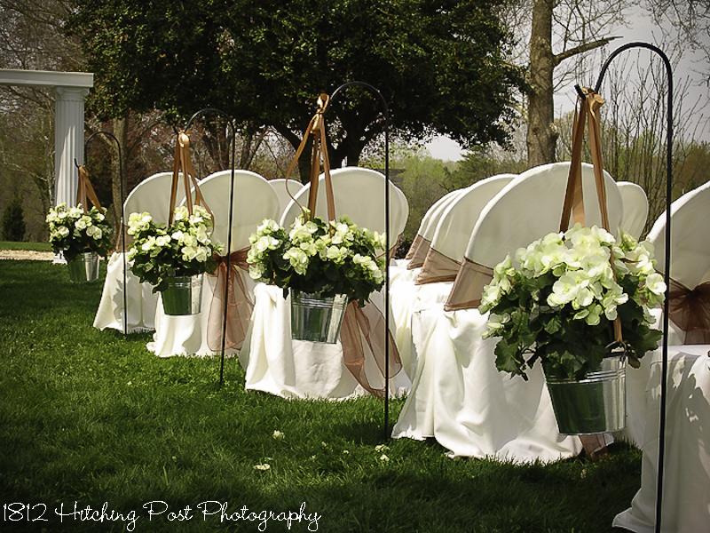 Galvanized buckets lush white begonias in galvanized buckets line aisle in spring mightylinksfo Gallery