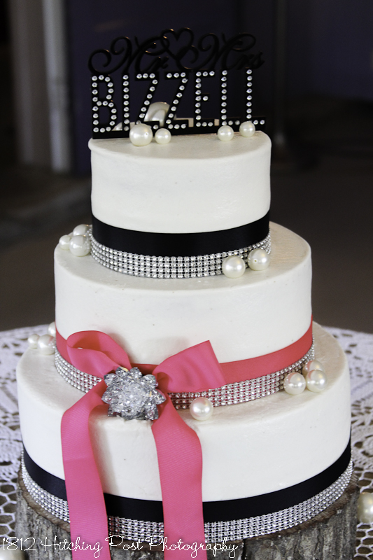 navy blue and hot pink wedding cake wedding cakes 17751